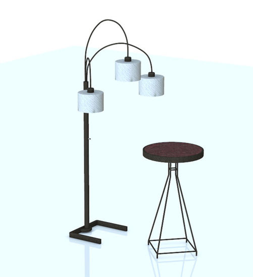 Picture of Contemporary Table and Lamp Furniture Models