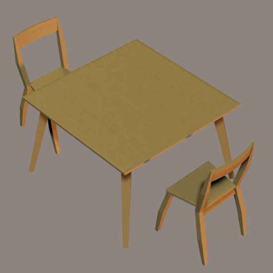 Picture of Danish Contemporary Table and Chair Props