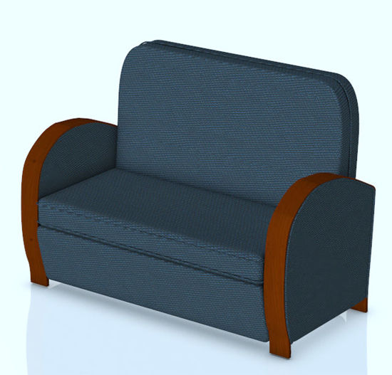 Picture of Art Deco Settee Couch Model