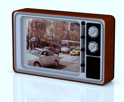 Picture of Vintage 1970's Television Set Model