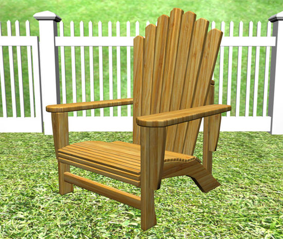 Picture of Adirondack Outdoor Wooden Chair Prop - REMAPPED
