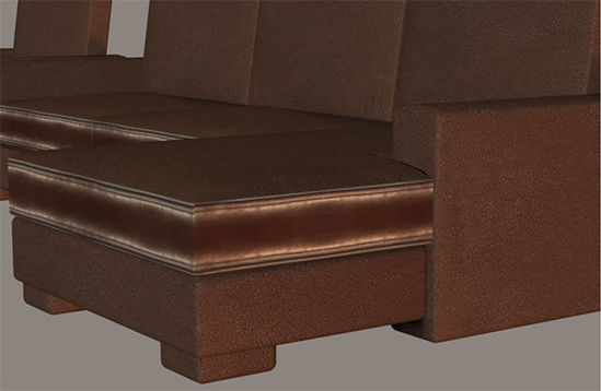 Picture of 4 Piece Sectional Furniture Model Set