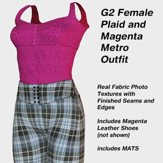 Picture of Plaid and Magenta Metro Outfit for the G2 Females