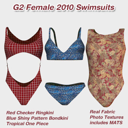 Picture of Poser G2 Female 2010 Swimsuits