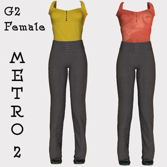 Picture of Metro 2 Clothing Texture Set - Add on to Metro for Poser