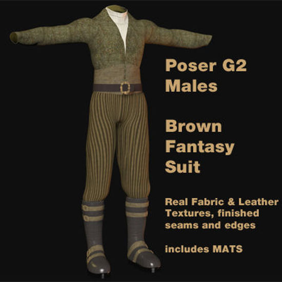 Picture of Brown Fantasy Suit for Poser G2 Males