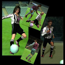 Football Uniform for Victoria 3 - Poser / DAZ 3D V3