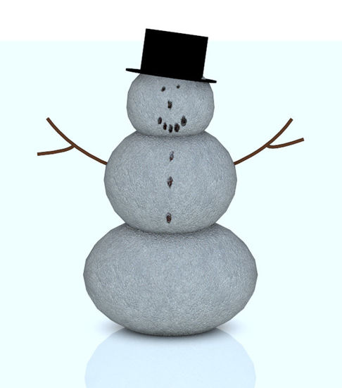 Picture of Holiday Snowman Model