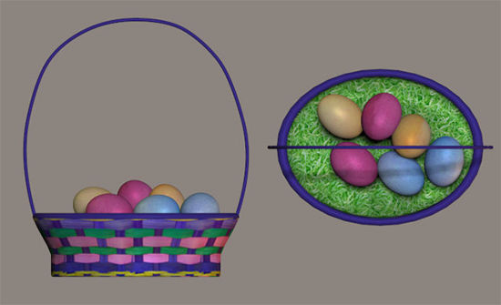 Picture of Easter Basket Model with Removable Eggs