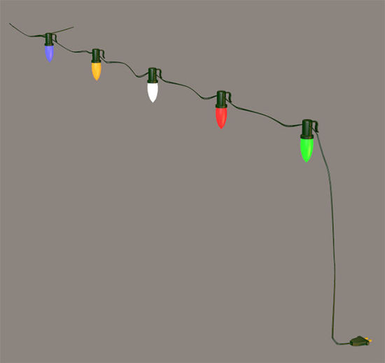 Picture of Modular Christmas House Lights Model with Morphs