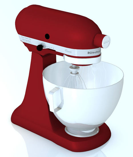 Picture of Kitchen Stand Mixer Model with Movements - Poser and DAZ Studio Format