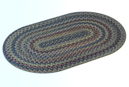Picture of 1950's Era Woven Throw Rug Model