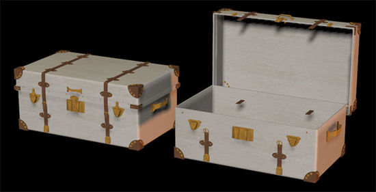 Picture of Victorian Era Travel Trunk Model with Morph