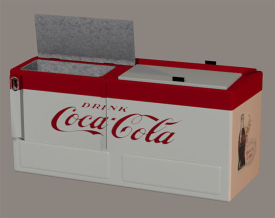 Picture of Antique Cola Cooler Model with Movements