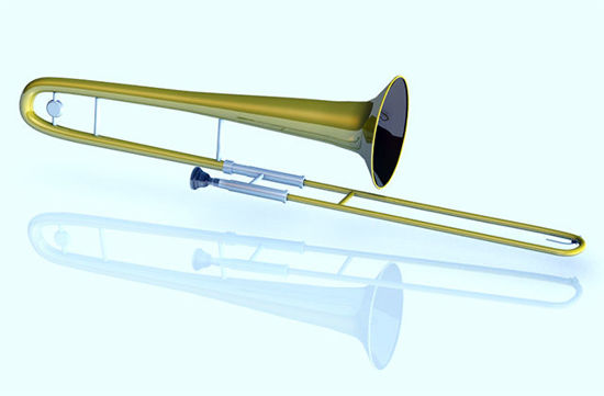 Picture of Trombone Musical Instrument Model