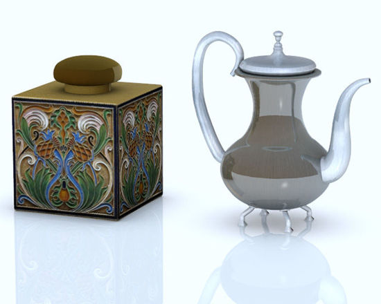 Picture of Teapot and Tea Caddy Models