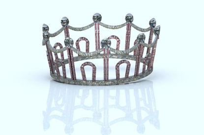 Picture of Jeweled Crown Model for Poser and DAZ Figures
