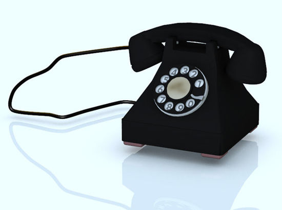 Picture of Old Vintage Dial Phone Model