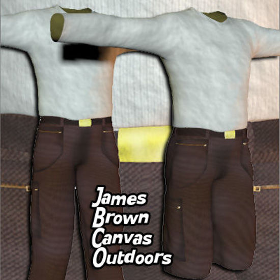 Picture of James Brown Canvas  Outdoors Clothing Textures