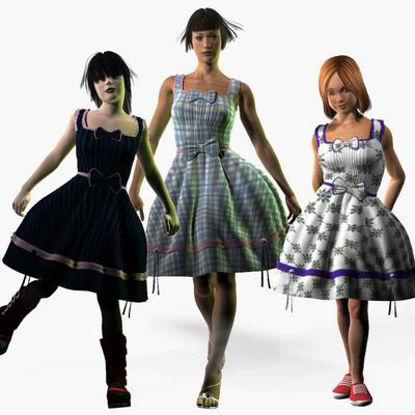 Picture of Angelic Dress for Kate 2 Laura, Kate 2 and Stephanie 3 - required Texture Maps