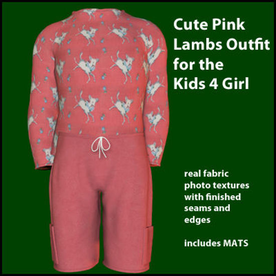 Picture of Cute Pink Lambs Outfit for the Kids 4 Girl