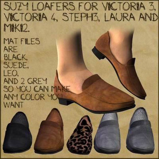 Picture of Suzy Loafers for 5 Female Figures - Laura - V3