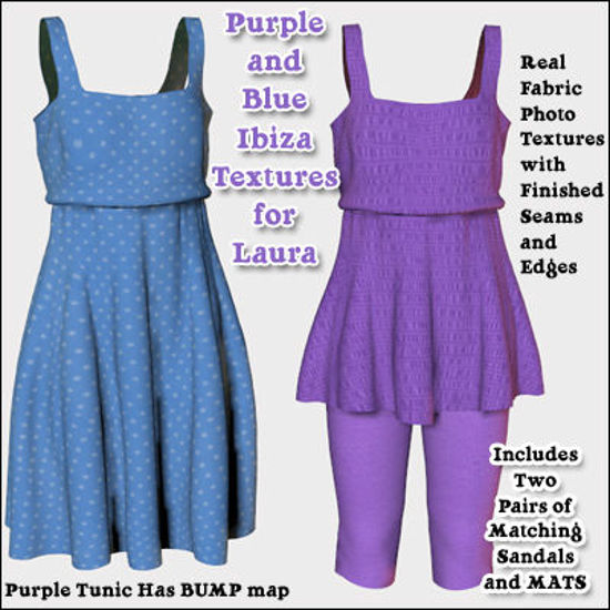 Picture of Blue and Purple Ibiza Clothing Textures for Laura