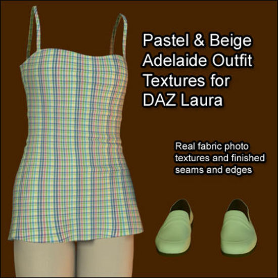 Picture of Pastel and Beige Adelaide Outfit Textures for Laura