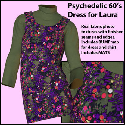 Picture of Psychedelic 60's Dress for DAZ Laura