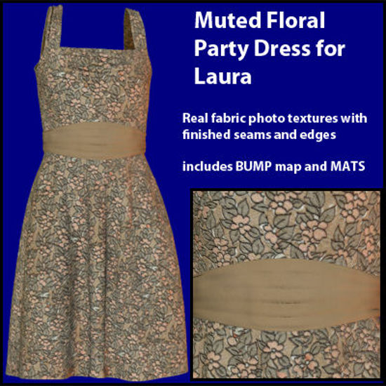 Picture of Muted Floral Party Dress for Laura