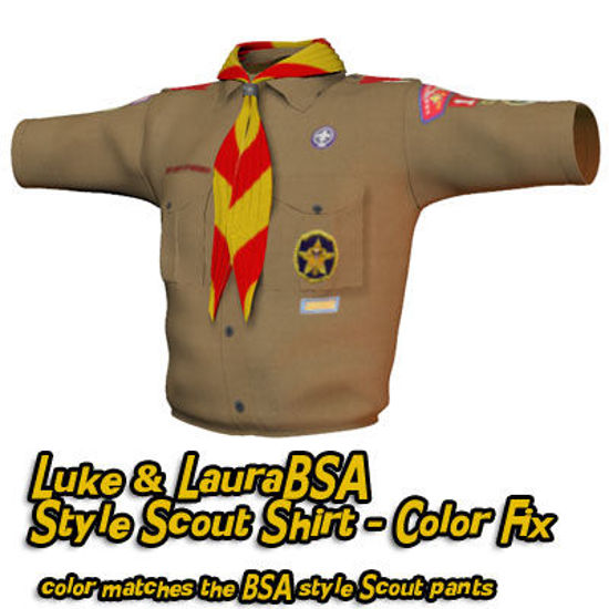 Picture of BSA Style Scout Shirt Color Fix for Laura