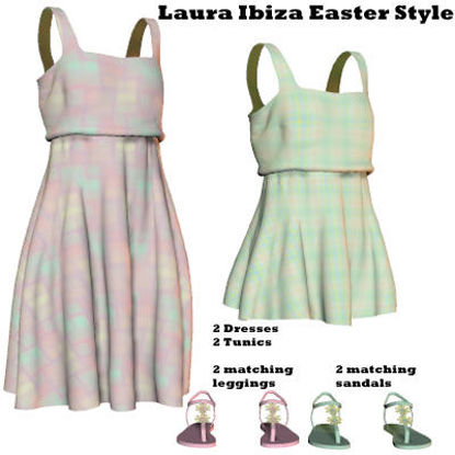 Picture of Ibiza Easter Style Dress Textures for Laura