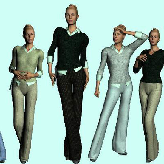 Picture of Miami Day Wear for P4 and Laura - Poser 4 and Laura figures.