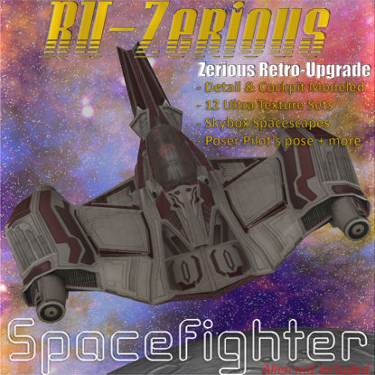 RU-Zerious Space Fighter (spacecraft figure set for Poser)