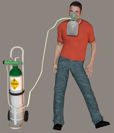 Picture of Oxygen Mask and Tank with Tubing Models