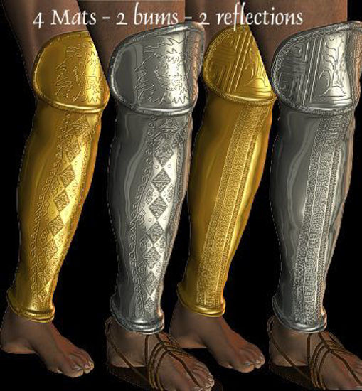 Picture of Greek shin guards