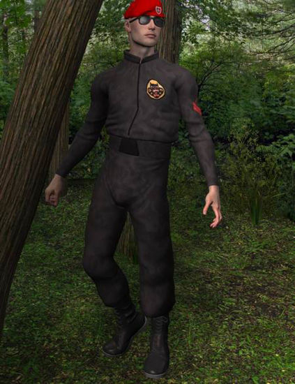 Picture of Mike 1 or 2 combat suit and beret