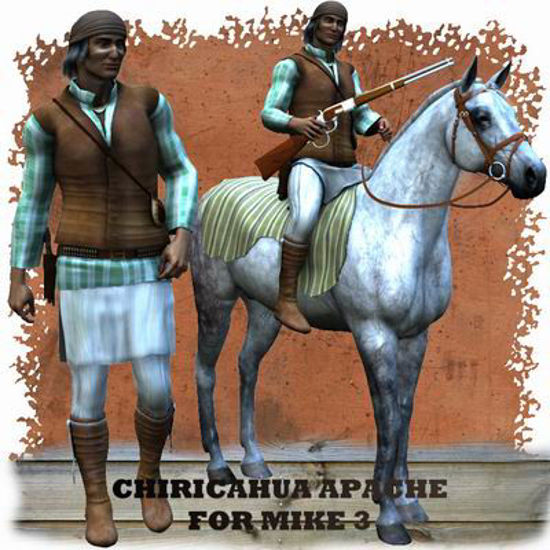 Picture of Chiricahua Apache for Michael 3 - Poser / DAZ 3D ( M3 )