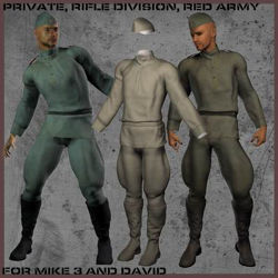 Red Army Uniforms for Michael 3 - Poser / DAZ 3D ( M3 )
