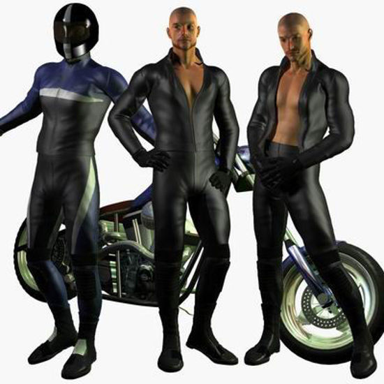 Picture of Motorbike leathers - Templates