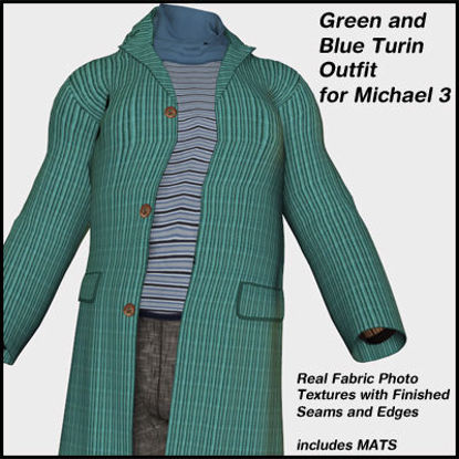 Picture of Blue and Green Turin Outfit for Michael 3