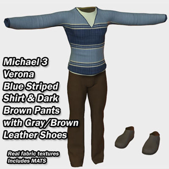 Picture of Michael 3 Blue and Brown Verona