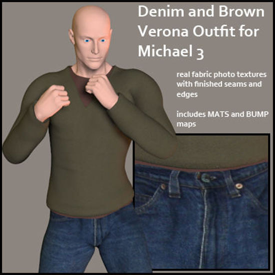Picture of Denim and Brown Verona Outfit for Michael 3