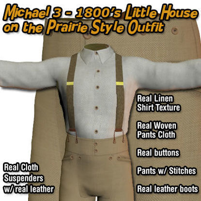 Picture of Michael 3 1800's - Little House on the Prairie Style Outfit