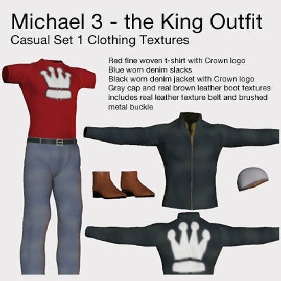 Picture of Michael 3 The King Outfit Clothing Textures - M3-King-ShirtJacket-NOLOGO
