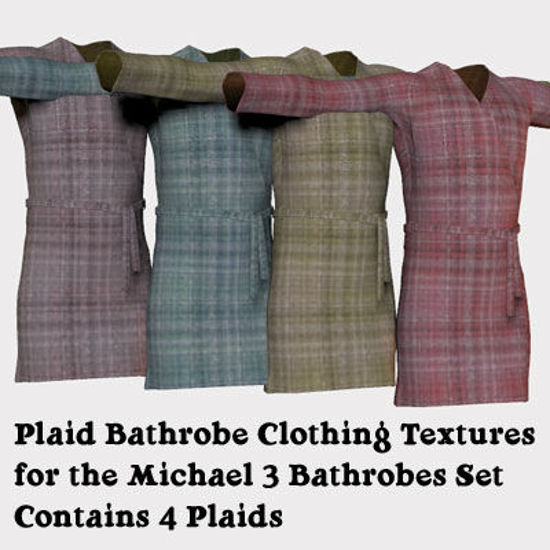 Picture of Plaid Bathrobe Clothing Texture for Michael 3
