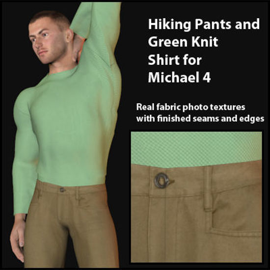 Picture of Hiking Pants and Green Shirt for Michael 4