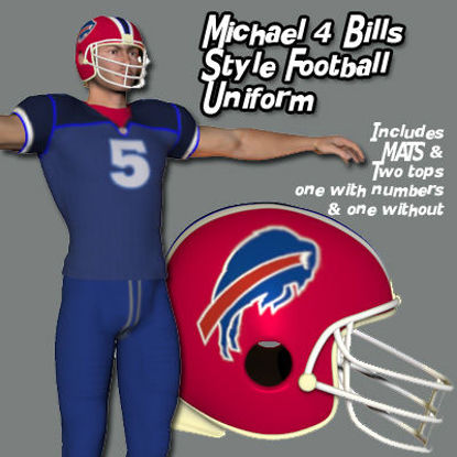 Picture of Michael 4 Bills Style Football Uniform