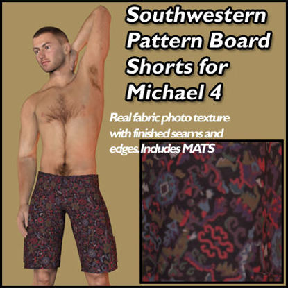 Picture of Southwestern Pattern Board Shorts for Michael 4