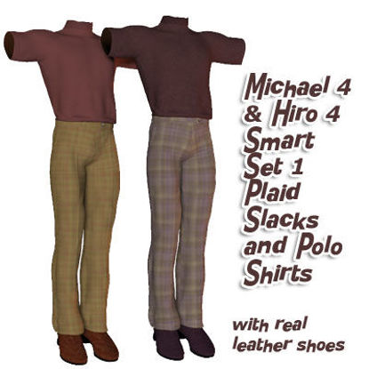 Picture of Michael 4 & Hiro 4 Smart Set 1 Plaids